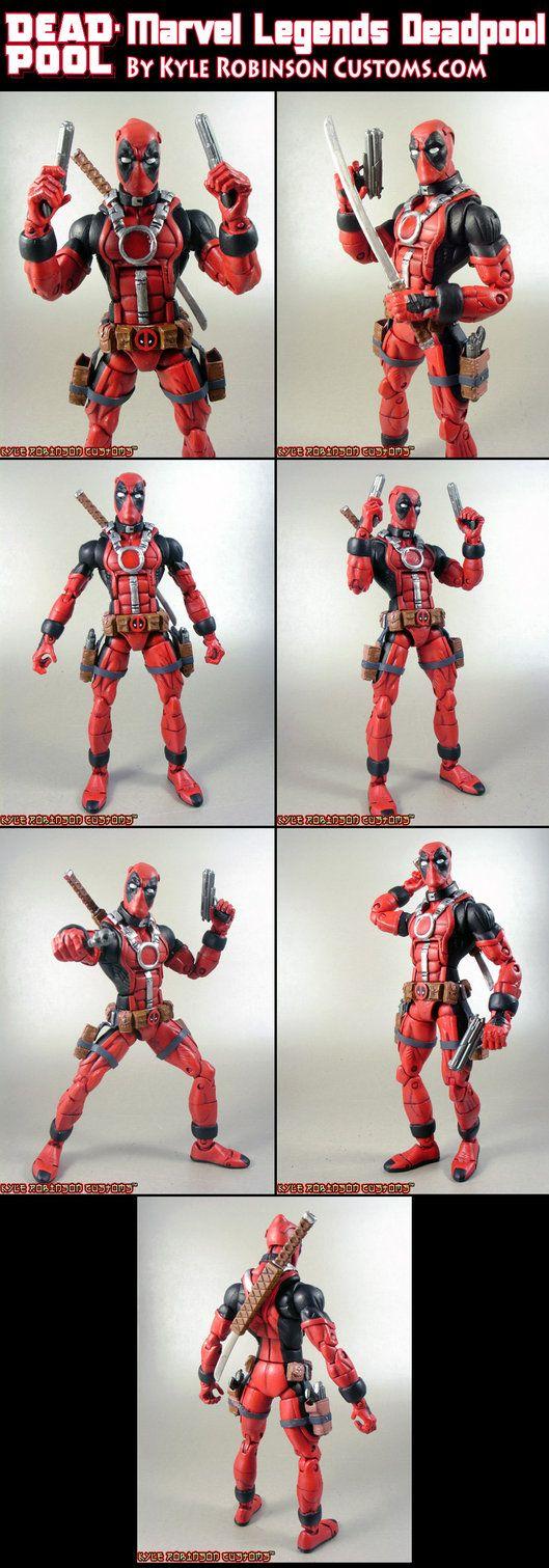 Custom Marvel Legends Deadpool by ~KyleRobinsonCustoms on deviantART