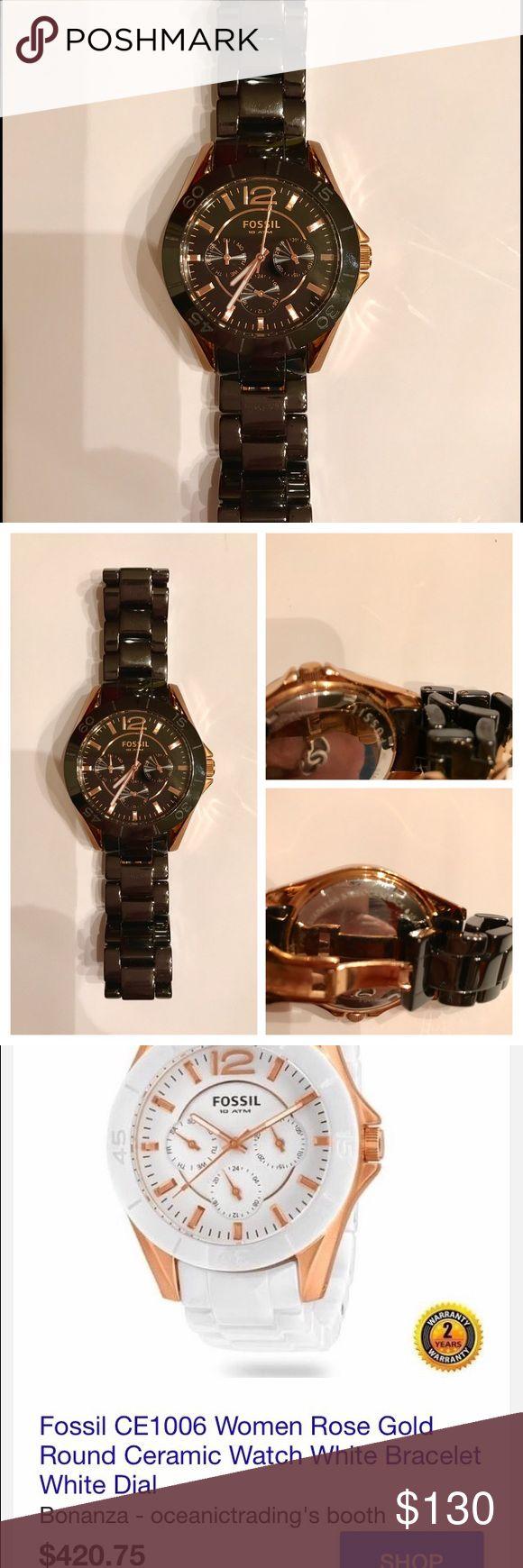 Women's Fossil watch 10 ATM ceramic Women's Fossil 10 ATM ceramic watch Fossil Accessories Watches