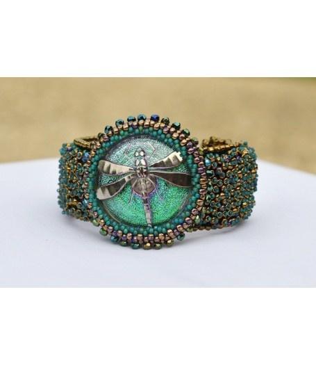 Beaded Jewellery - Dragonfly Sky by Karma Kreated