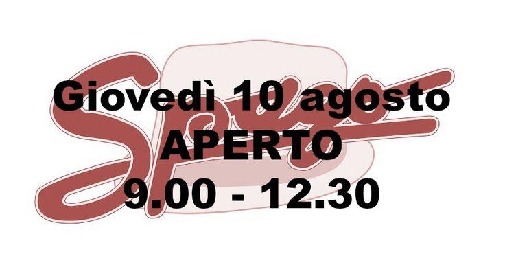 Giovedì 10 agosto Spago sarà APERTO dalle 9.00 alle 12.30!  Le ferie si avvicinano...approfittate di domani per comprare con i SUPER SALDI!!! A domani!  #SpagoAbbigliamento #AbbigliamentoUomo #SpagoUomo #AccessoriUomo #NuovaCollezione #NewCollection #SpringSummer2017 #SALDI #SALES #SCONTI #Ravenna #GiovedìAperto RavennaToday Ravenna24Ore Abbigliamento Uomo