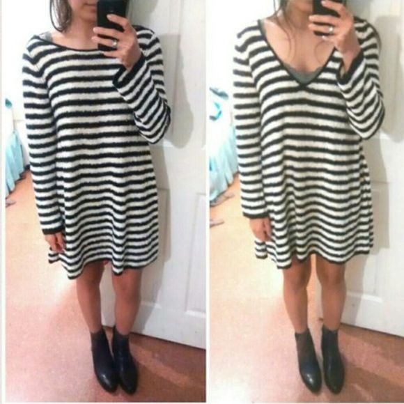 Free People Counting Stripes LS Tunic/Dress Super versatile tunic dress with great texture. I do not trade. Ask me about discounted bundling! Free People Dresses Long Sleeve