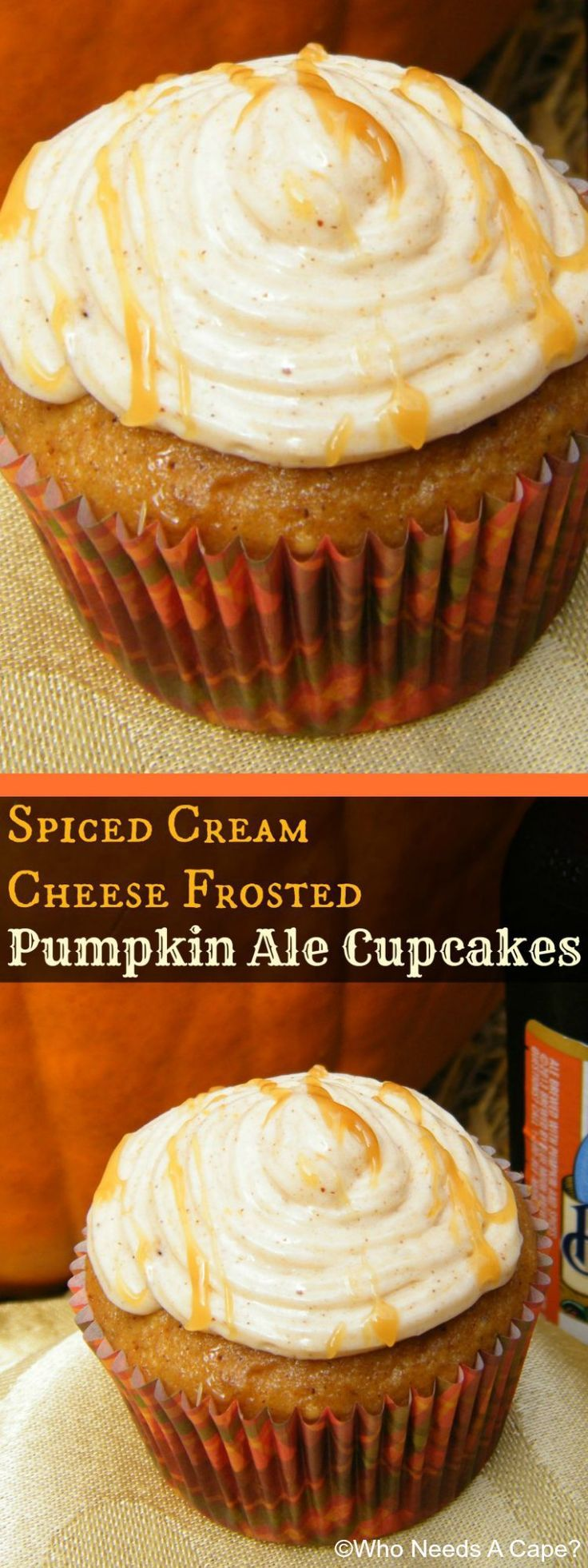 Love fall flavors & beer? Then you'll love these Spiced Cream Cheese Frosted Pumpkin Ale Cupcakes as they combine the best of both worlds. They are amazing.