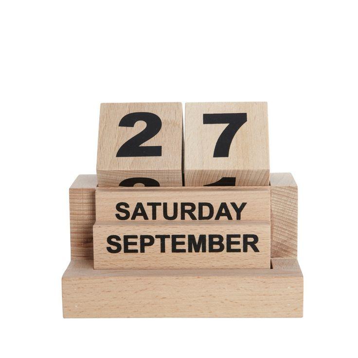 Kalendarz drewniany ETERNITY - agamartin.com - Design Skandynawski, Meble Skandynawskie, Duńskie, Industrialne, Retro, Vintage, Organic, Fabryczne