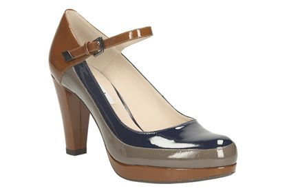 Womens Smart Shoes - Kendra Dime in Cognac from Clarks shoes