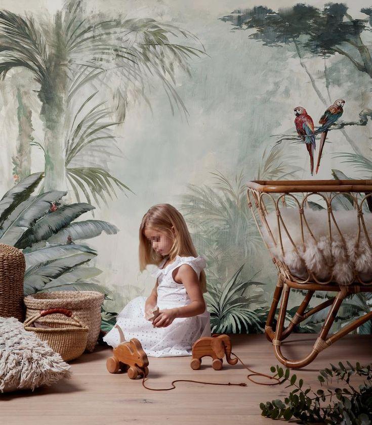 Papier Peint Jungle Chambre Enfant Decoration Papier Peint