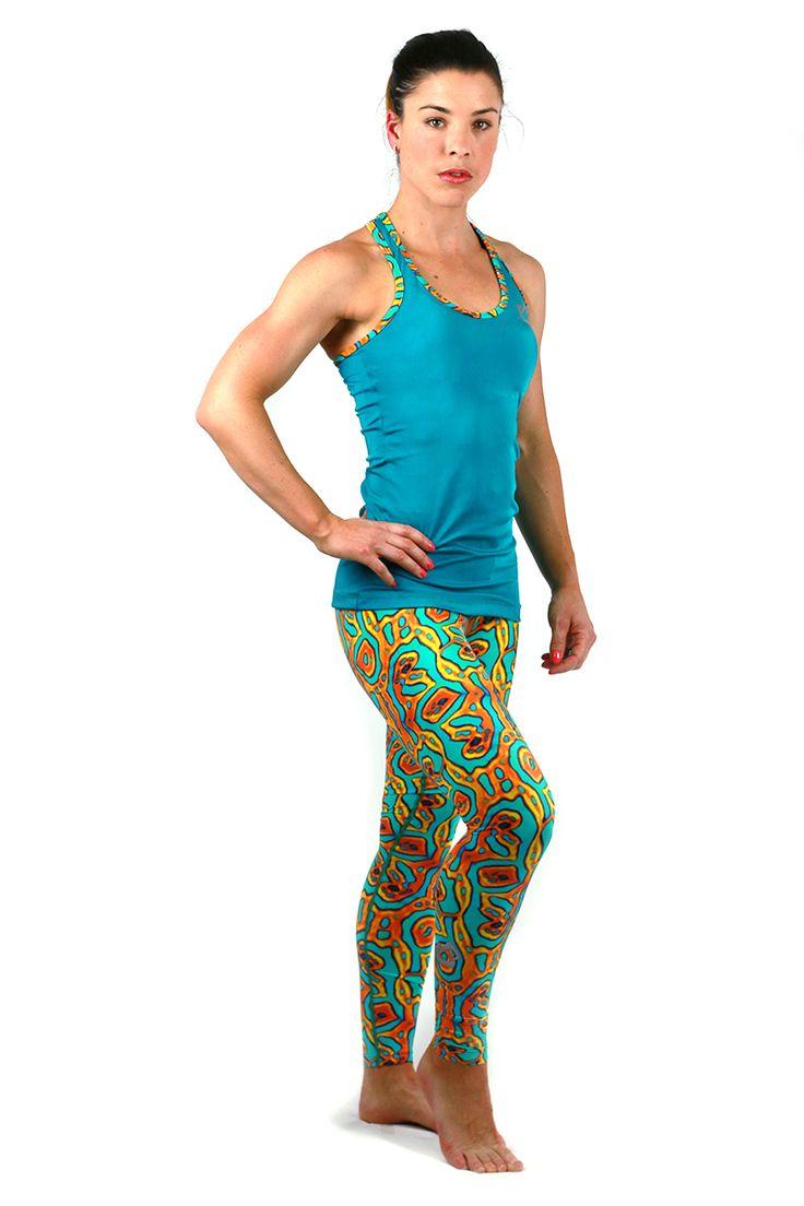 FOHER Wildher Run Singlet paired with Wildher legging.