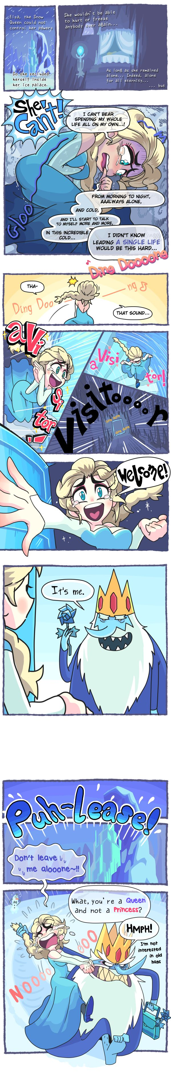 Frozen and Adventure Time? This should be good - Imgur