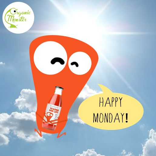 No Gloomy Monday! A bottle of Organic Monster juice will brighten up your day!