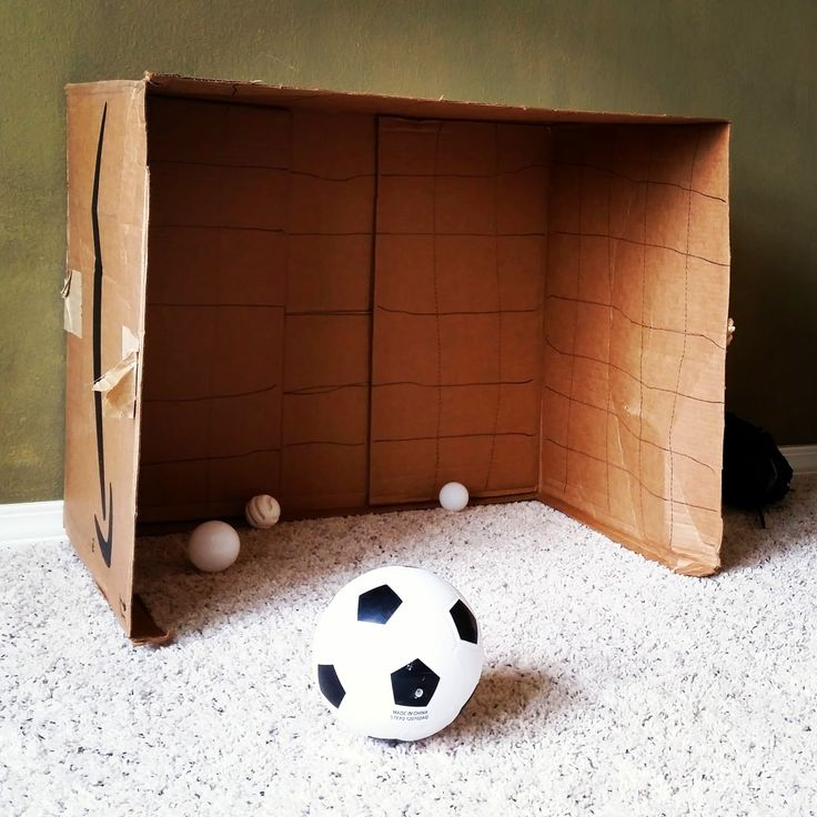DIY Soccer, Hockey or Lacrosse Goal for Toddlers from an Amazon Subscribe and Save Box | Shit I've Done From Pinterest