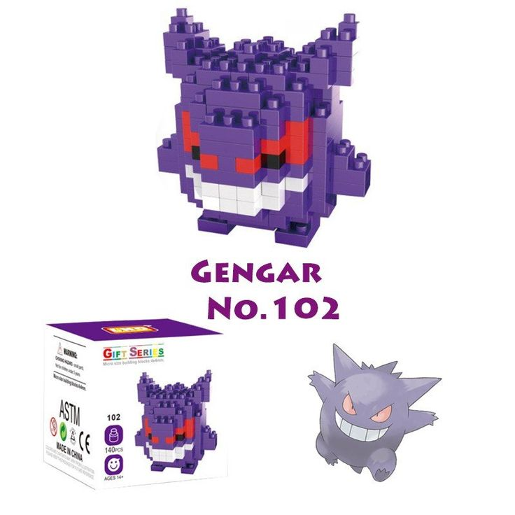 Pocket Pokemon Gengar Figures from Building Blocks
