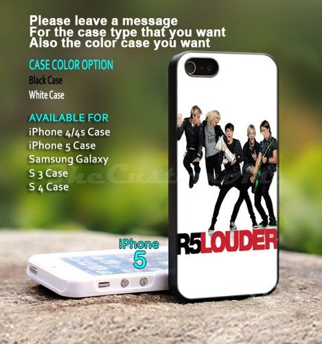 R5 Louder Band - For iPhone 5 Black Case Cover | TheCustomArt - Accessories on ArtFire