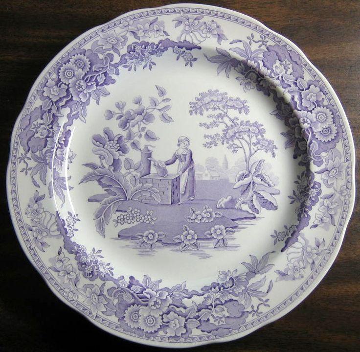 lavender purple toile transferware - photo #2