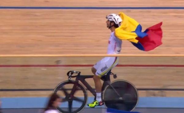 Fernando Gaviria, campeón mundial del ómnium de pista en Londres, Inglaterra (marzo 5 del 2016)