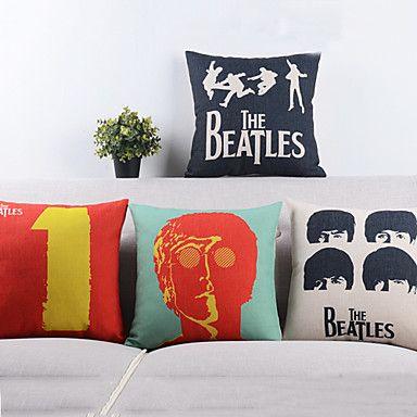 ensemble de 4 dire salut aux beatles taies d'oreiller décoratifs – USD $ 56.99