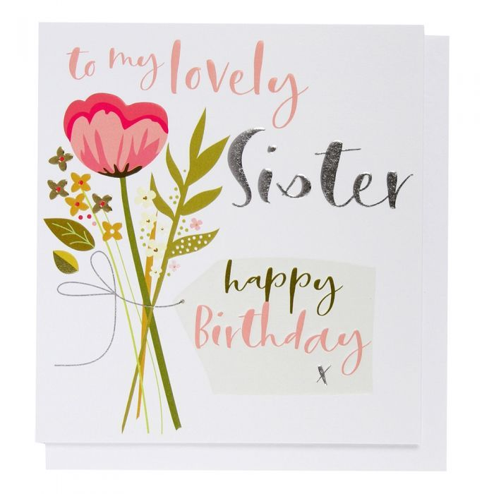 Sister Floral Birthday Card Paperchase Birthday Cards 50th Birthday Balloons Cards