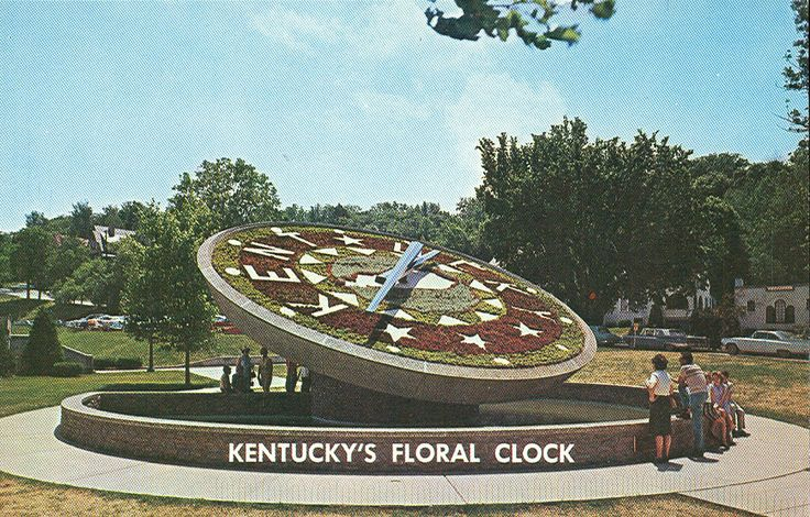 Instead of sitting on a bank of earth as most similar floral clocks do, the Frankfort clock is suspended above a pool of water. The pool is 36 feet in diameter and 4.5 feet deep. Visitors often use the pool as a wishing well.