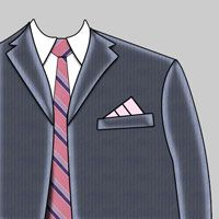 """Three Point Stairs Pocket Square - very sharp. I make a 12"""" square from lightweight silky type fabric."""
