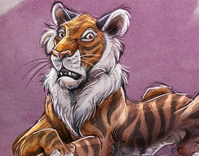 """Check out new work on my @Behance portfolio: """"The Huh? Tiger"""" http://be.net/gallery/47973933/The-Huh-Tiger"""