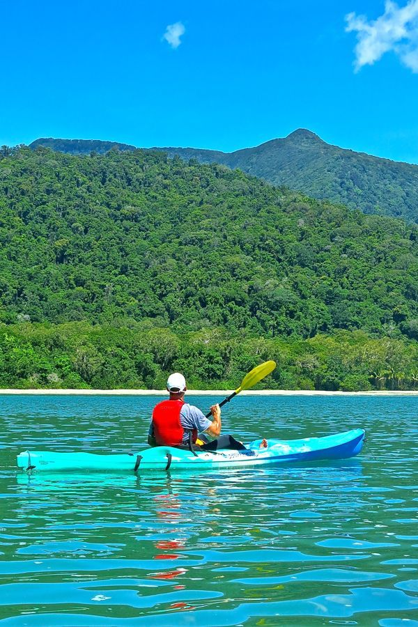 Kayaking in Paradise – Cape Tribulation, Queensland, Australia.  Sweet water so blue. Beauty I so desire! Take me to Australia?