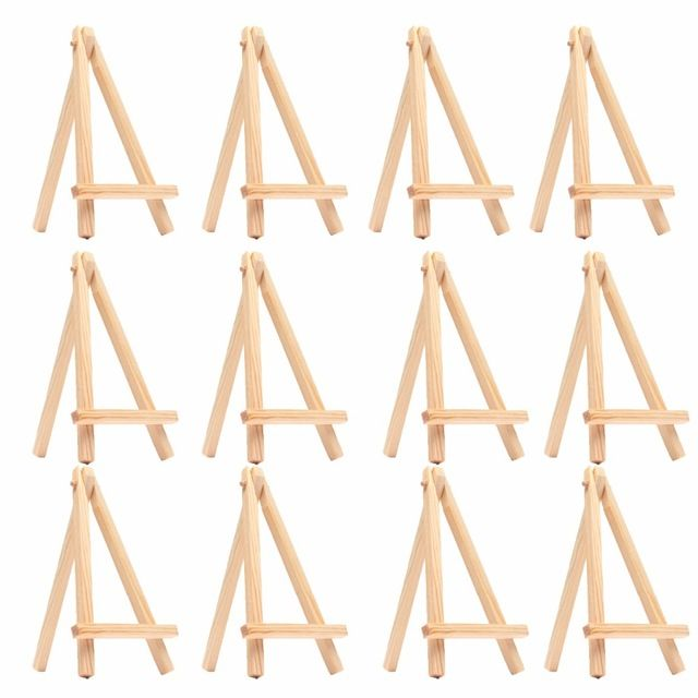 Lot of 12 Display Stand Easel Plate Holder Picture Photo Art Plastic Foldable FS