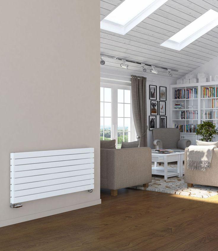 Designer Radiator Horizontal | Wide Flat Panel Radiators | White | Anthracite