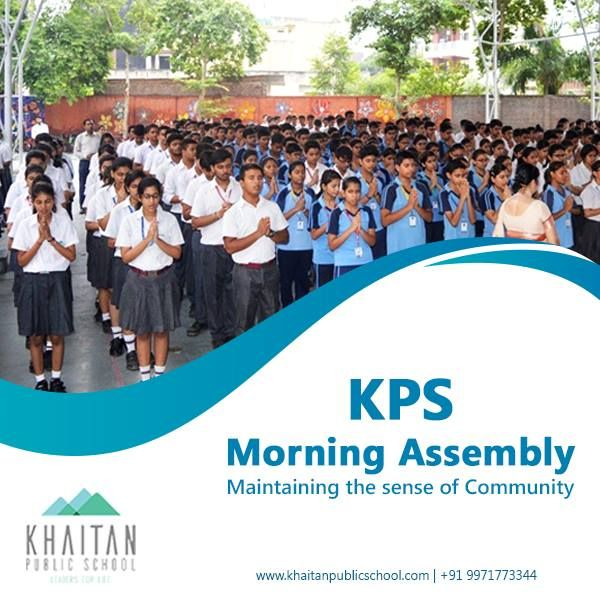 KPS Morning Assembly – Maintaining the sense of Community At KPS, morning assembly has a deep, educative and enriching purpose. Our assembly strengthens our guiding principles and plays an integral part in maintaining a strong sense of community that reinforces KPS's ideologies, values and mission statement. Learn more about life at Khaitan: www.khaitanpublicschool.com #KPS #motivation #morning #active