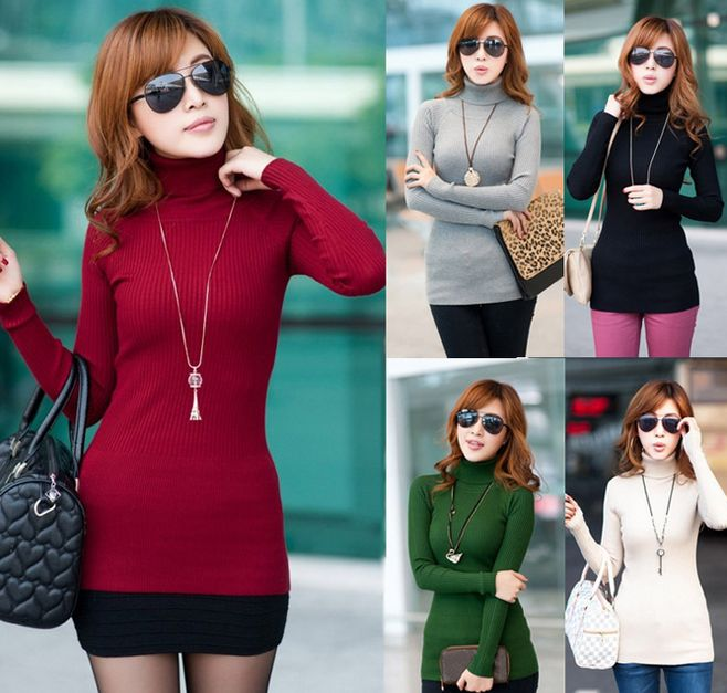 Beautiful Turtleneck Tops $14.99 In  Black Cream Green  Red and  Grey