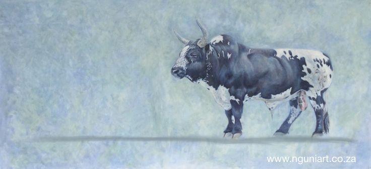 Nguni, oil on canvas, 2 meters x 1 meter www.nguniart.co.za