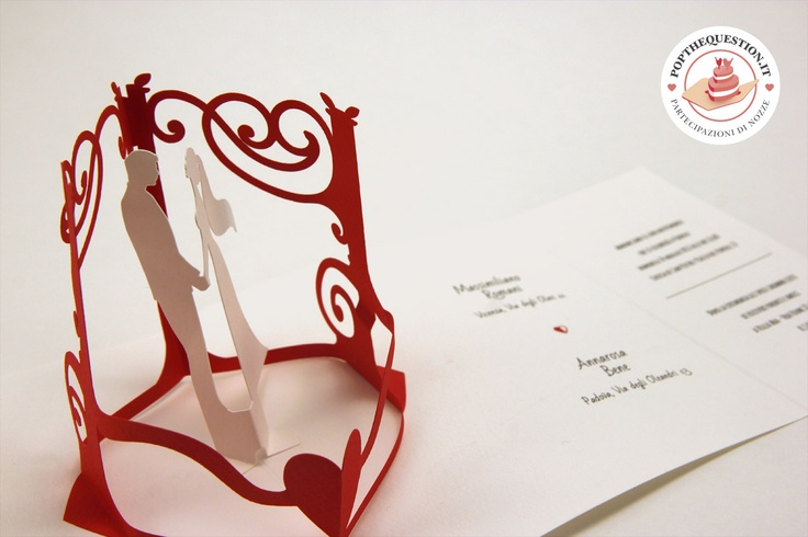 Il gazebo degli sposi, una partecipazione di matrimonio pop-up. #wedding #weddinginvitations #popup