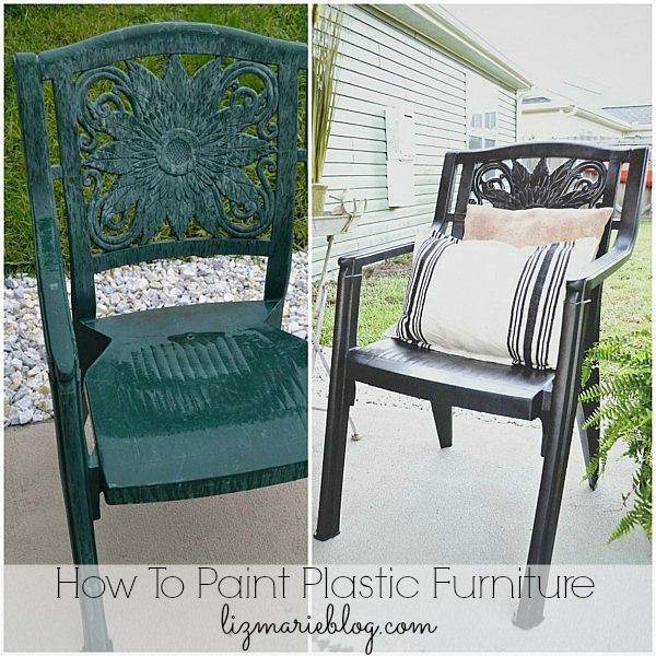 How To Paint Plastic Furniture U0026 A Makeover Part 57
