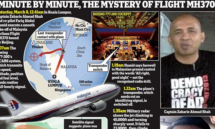 Was Malaysian co-pilot's last message to base a secret distress signal #DailyMail