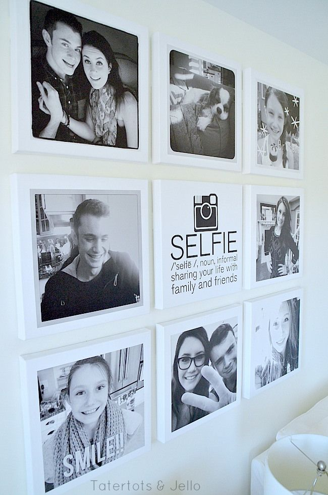teen instagram selfie wall at tatertots and jello