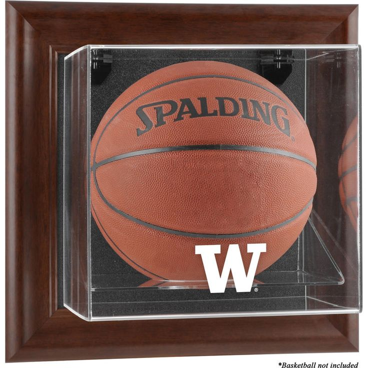 Washington Huskies Fanatics Authentic Brown Framed Wall-Mountable Basketball Display Case