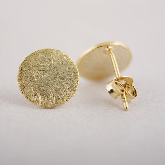 Circle stud Earrings, round earrings, Gift for Her
