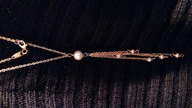 ♡collier 18 carats perles de culture♡