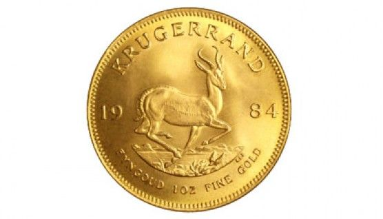 South African Krugerrand Gold Bullion Coin - The grand daddy of modern gold coins, the Krugerrand has been around since 1967. Like the American Gold Eagle, these coins are minted from 22 karat gold, but contain 1 full ounce of pure gold (each coin weighs 1.0909 ounces). Krugerrands are an economical way to start buying one ounce coins, as they typically have the lowest premium over the spot price of gold of all sovereign-issued gold bullion coins. Composition: 91.667% gold, 8.333% copper
