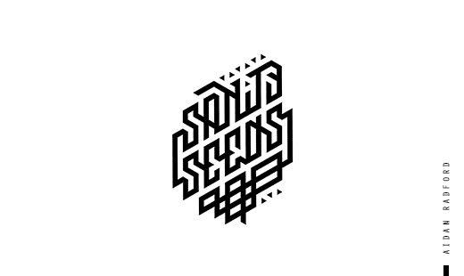 Sanity Seeds custom typographic identity. by Aidan Radford