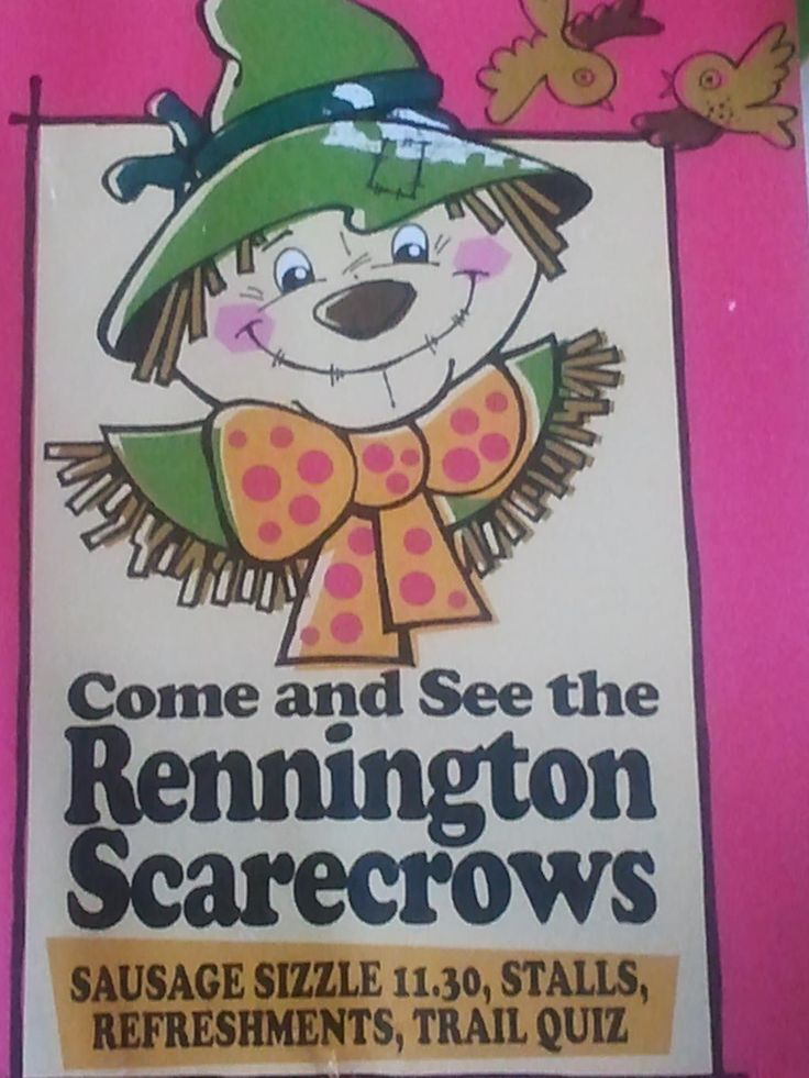 Rennington Scarecrows nr Alnwick this BH weekend, lots of great simple fun for all the family from 10 -4.30pm!