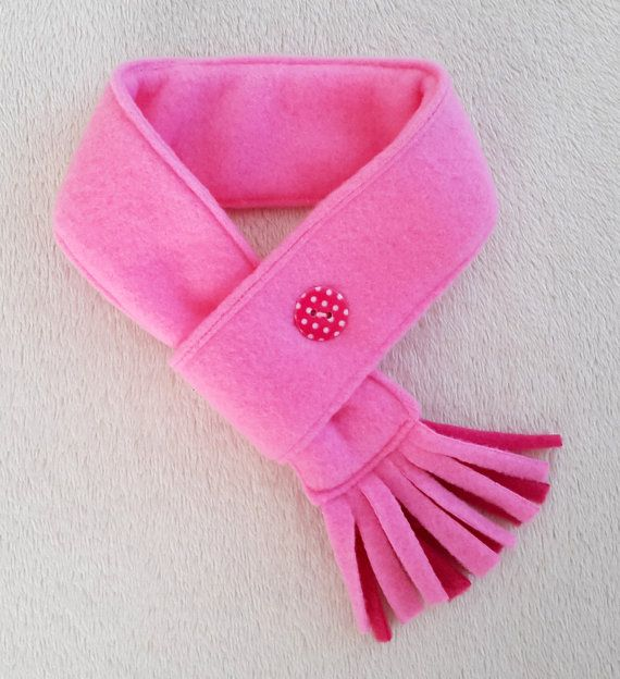 Dog Scarf Fleece light Pink, Cat Scarf, Pet Neckwear, Puppy Scarf baby pink