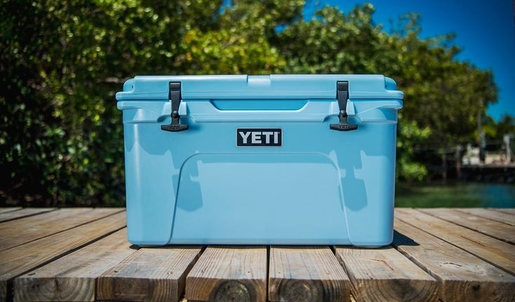 YETI Tundra 45 Cooler in Light Blue