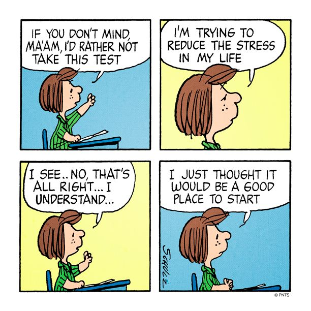 Tuesday with Peppermint Patty.