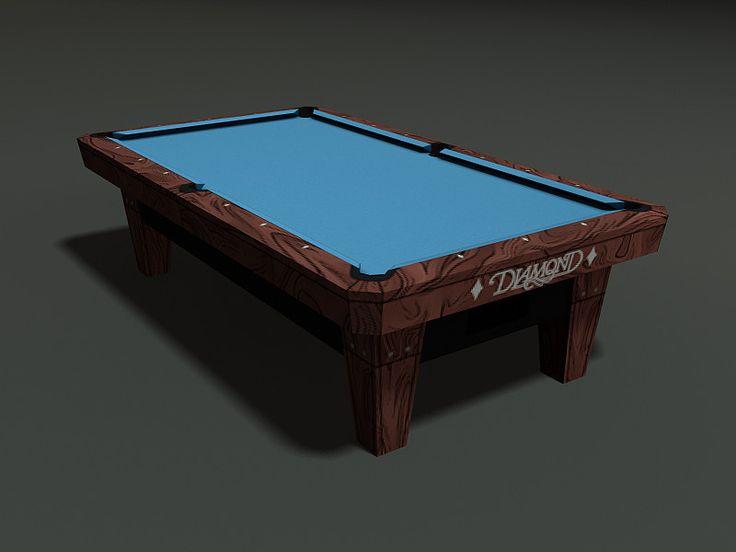Diamond Pool Table 3D Model - 3D Model