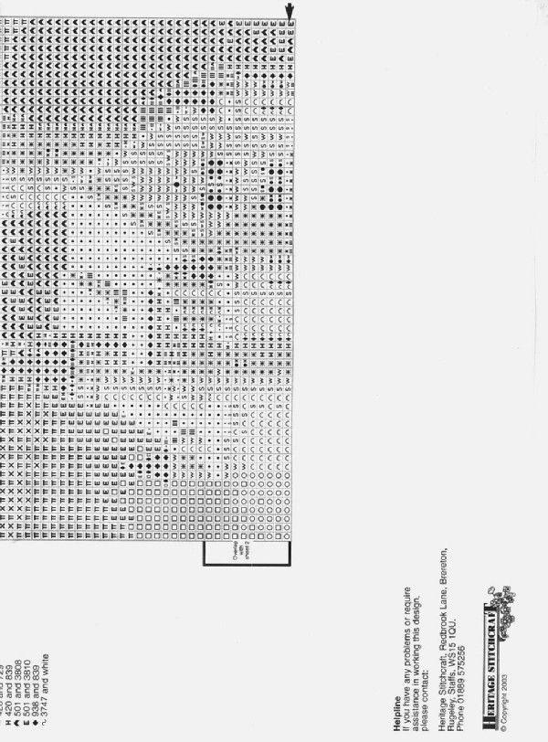 Schema punto croce Castello Neuschwanstein 02