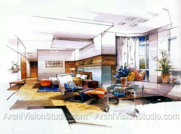 Perapectiva Interiores Arquitectura Pinterest