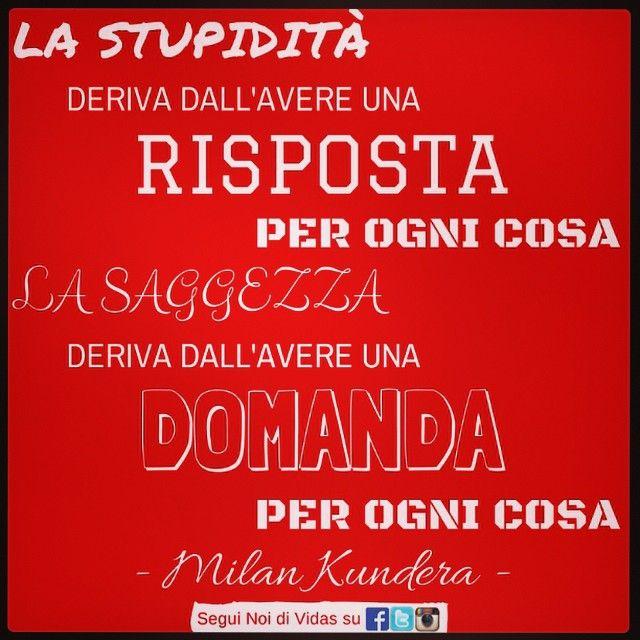 La #saggezza deriva dall'avere una domanda per ogni cosa #Kundera
