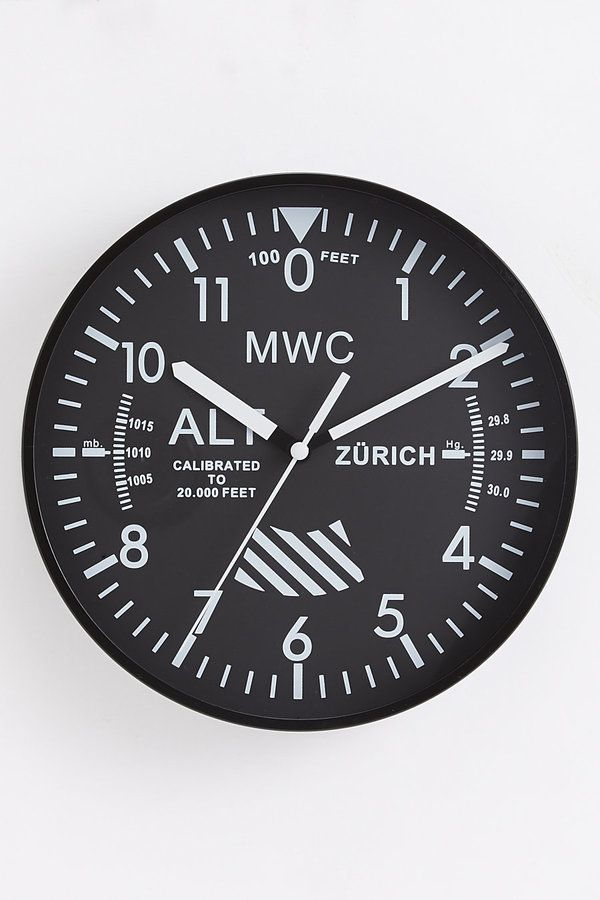 Military Watch Company Altimeter Wall Clock on shopstyle.com