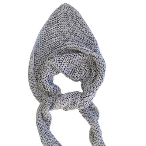 """Cotton knitted """"V"""" scarf"""