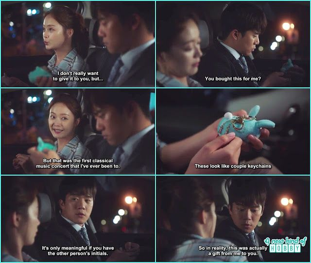 da hyun give the key chain to jae in which has name initials - Something About 1 Percent - Episode 3 (Eng sub) ha seok jin & jeon so min