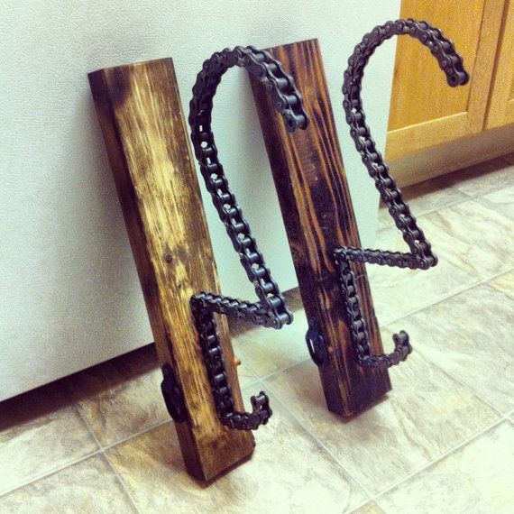 The Solo motorcycle helmet key and coat rack by threepence3d