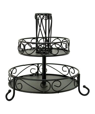 Love this Two-Tier Makeup Organizer by Boston Warehouse on #zulily!Keep makeup organized in style with this convenient and uniquely designed organizer.    •9.5'' H x 9.8'' diameter •Metal